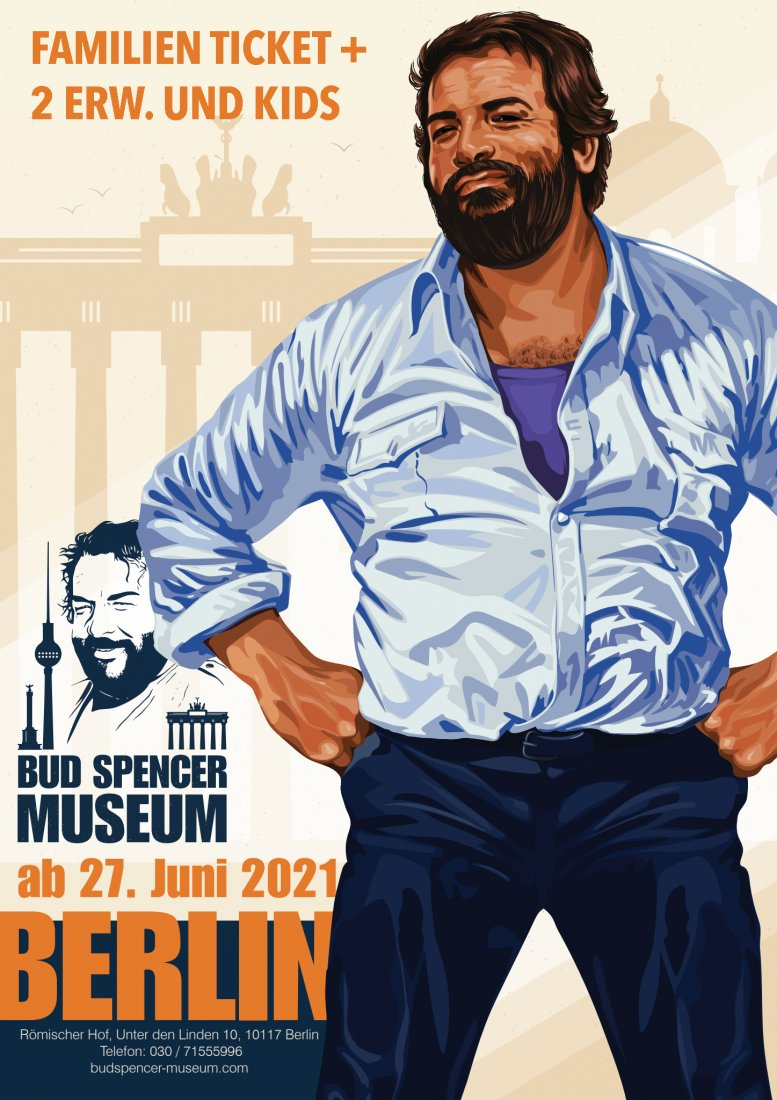 Bud Spencer in Berlin - Familienticket Plus